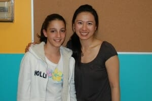 Margaux with her Flute teacher, Anita Lin.