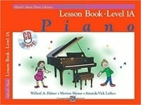 Cover of Alfred's Basic Piano Library Lesson Book 1A