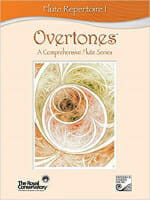 Cover of Overtones Flute Series Book 1 by the Royal Conservatory of Music