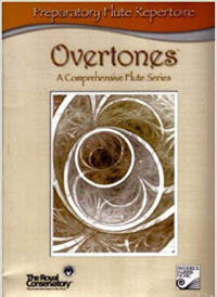Cover of Overtones Flute Series Preparatory level book by the Royal Conservatory of Music