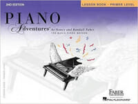 Cover of Faber Piano Adventures Lesson Book Primer Level