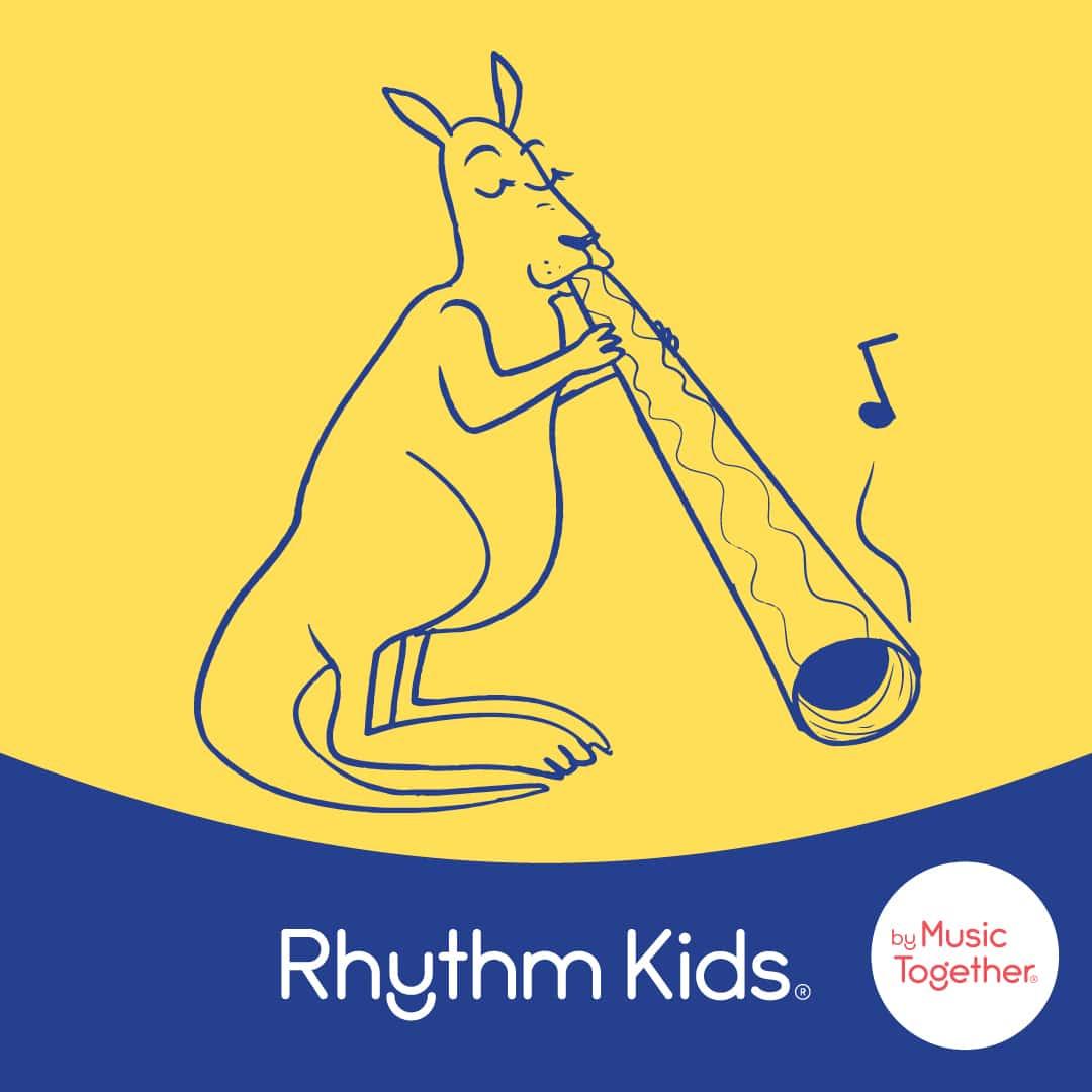 Kangaroo playing Didgeridoo